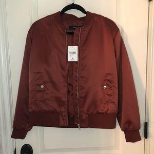 Forever 21 Rust Colored Bomber Jacket Size Medium